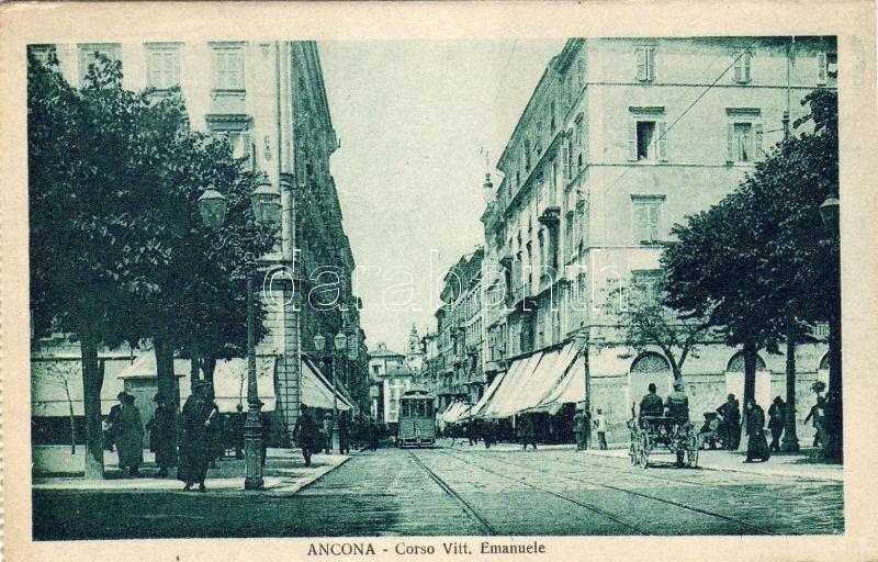 Ancona, corso Vittorio Emanuele / street, tram