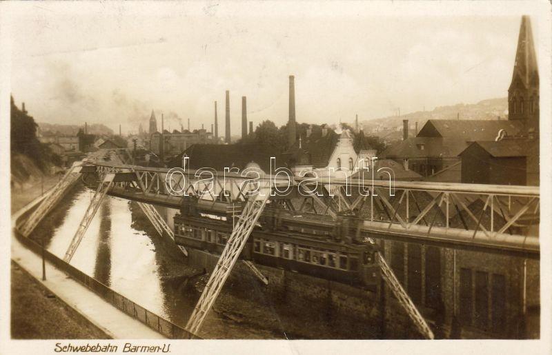 Barmen, Schwebebahn / suspension railway, factory