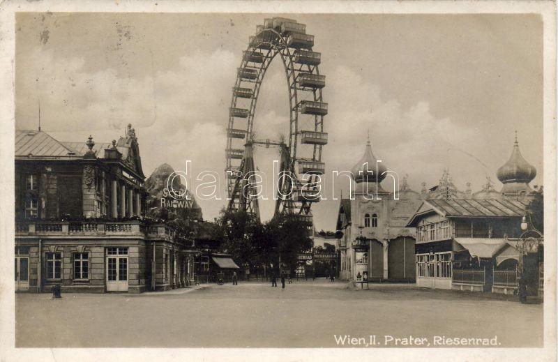 vienna, Wien II. Prater, Riesenrad, Scenic railway, B.K.W.I. Nr. 47., Bécs, Wien II. Prater, Riesenrad, B.K.W.I. Nr. 47.