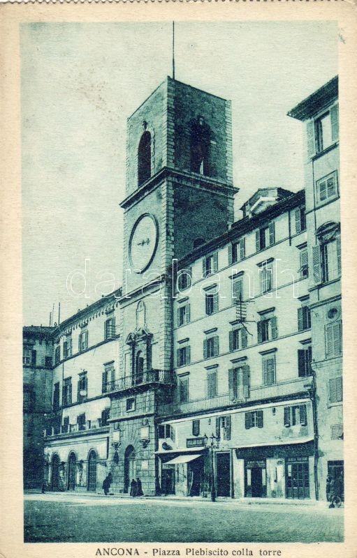 Ancona, Piazza Plebisctico colla torre / square, tower