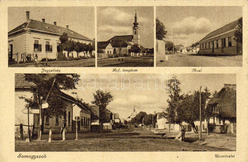 Somogyszob, Jegyzőség, Mozi, Református templom