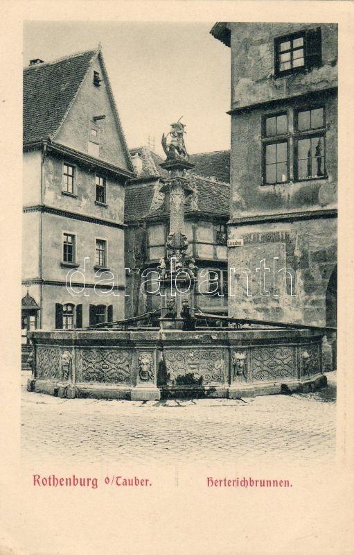 Rothenburg ob der Tauber, Herterichbrunnen / fountain