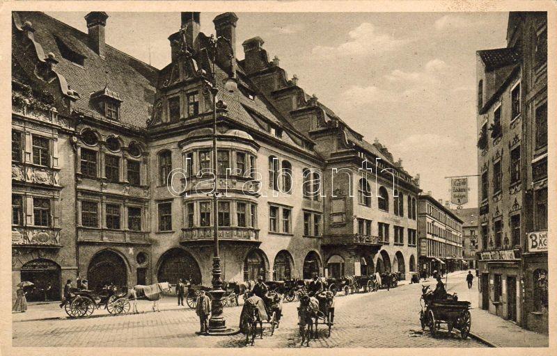 München, Hofbrauhaus, Karl Backerei / beer house, bakery, T.S.N. Serie 1460. Nr.3.