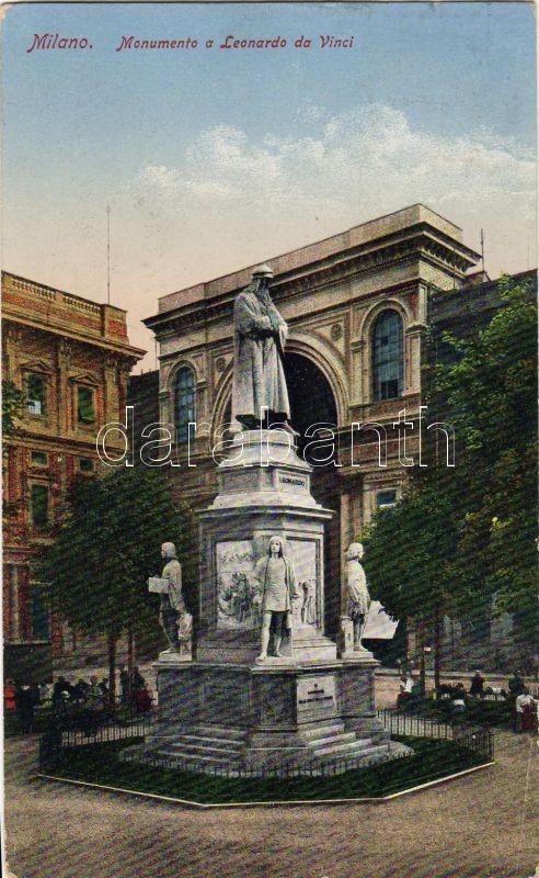 Milano, monumento a Leonardo da Vinci / monument