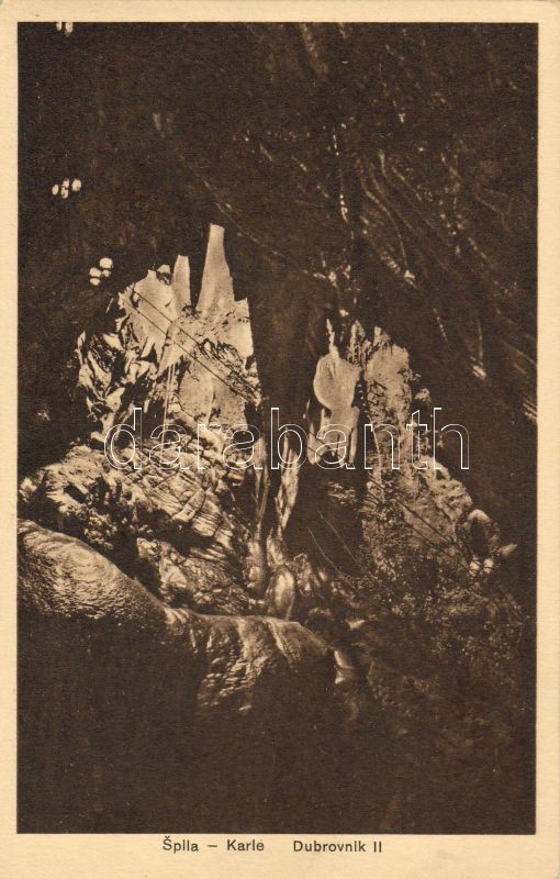 Dubrovnik, Ragusa; Spila Karle / stalactite cave