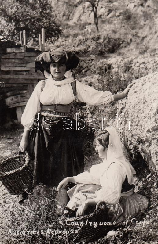 Corfu peasants Korfu parasztasszonyok