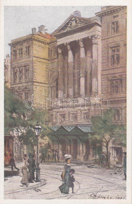Budapest VIII. A Nemzeti Színháznak 1912-ben lebontott épülete s: Háry Gy. Budapest VIII. The National Theatre in 1912, demolished building s: Háry Gy.