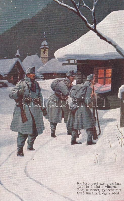 Magyar katonák, Karácsonyi ima Hungarian soldiers, military Christmas