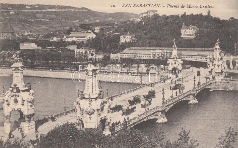 San Sebastian, Puente de Maria Cristina San Sebastian, Maria Cristina híd
