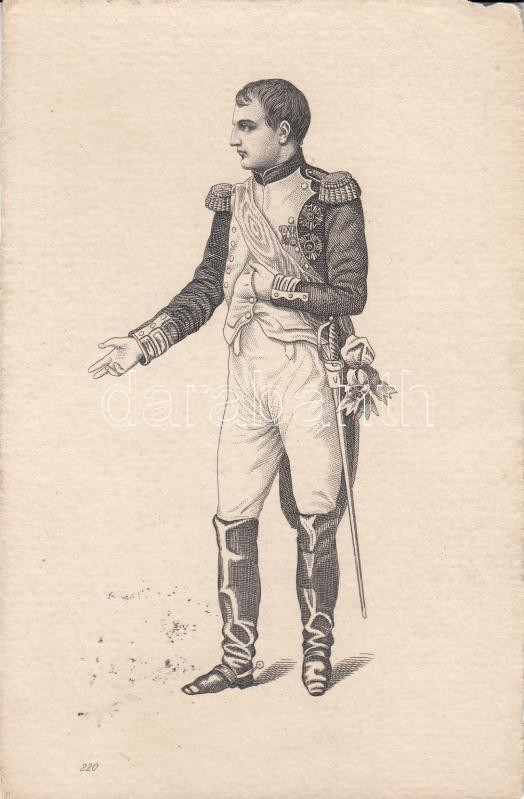 Napóleon, metszet Napoleon, etching