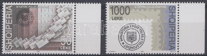 90.anniversary of albanian stamp, margin set 90 Jahre albanische Briefmarken Satz mit Rand 90 éves az albán bélyeg ívszéli sor