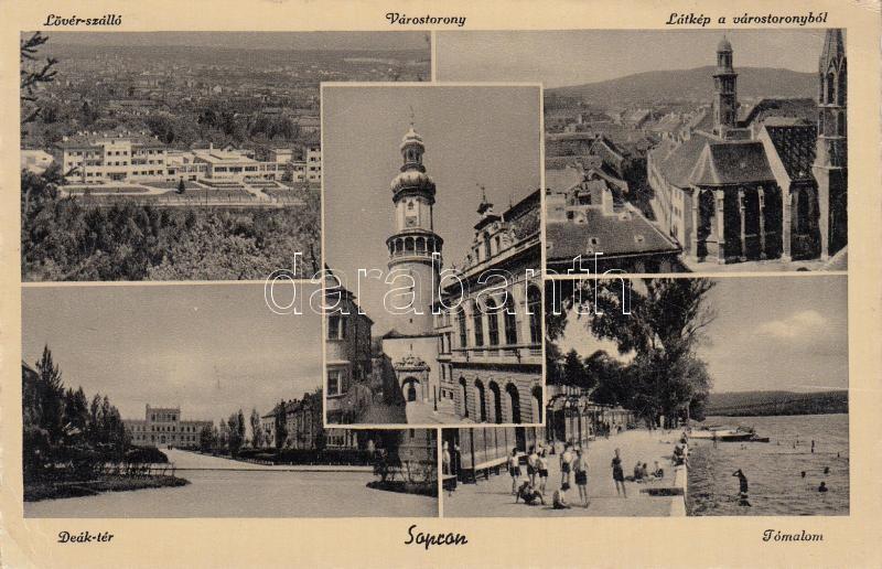 Sopron Hotel Lövér, Town tower, Deák square, beach Sopron Lövér szálló, Várostorony, Deák tér, Tómalom
