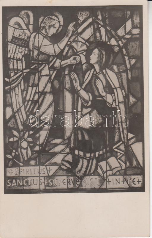 Szombathely Árkayné Sztehló Lily's glass painting in the chapel Szombathely, Árkayné Sztehló Lily üvegfestménye a szeminárium kápolnájában