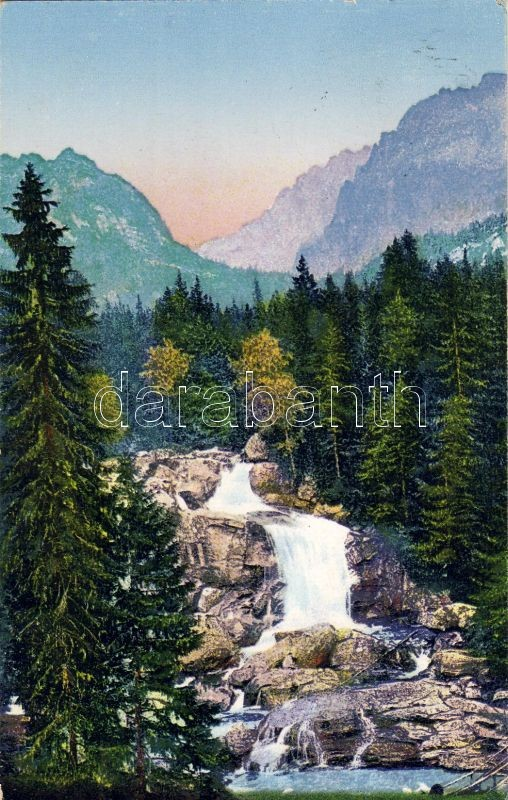 Tatra, waterfall, valley, Tátra, Alsó vízesés a Tarpataki völgyben
