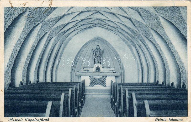 Miskolc-Tapolcafürdő, Szikla kápolna, belső