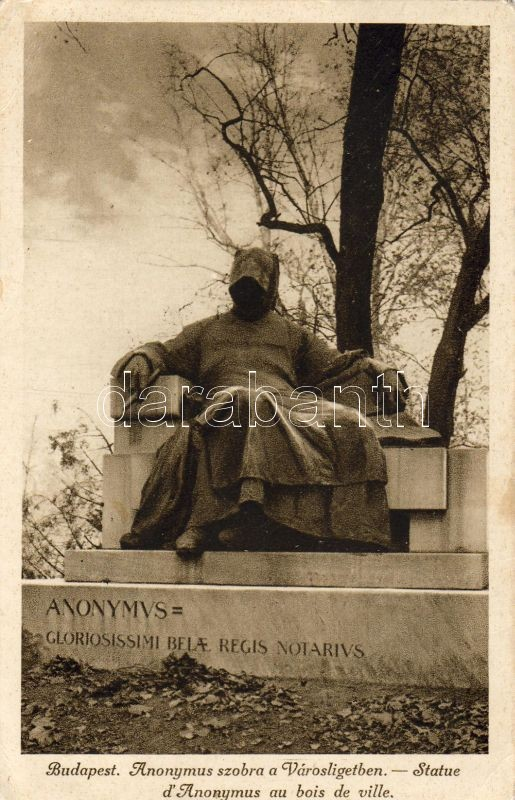 Budapest XIV. Városliget, Anonymus-szobor
