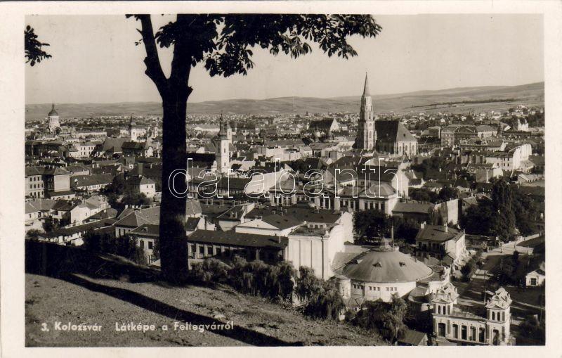 Cluj-Napoca 'vissza' So. Stpl, Kolozsvár, Látkép a Fellegvárról 'vissza' So. Stpl