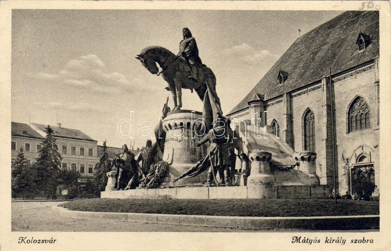 Cluj-Napoca, statue, Kolozsvár, Mátyás király szobra