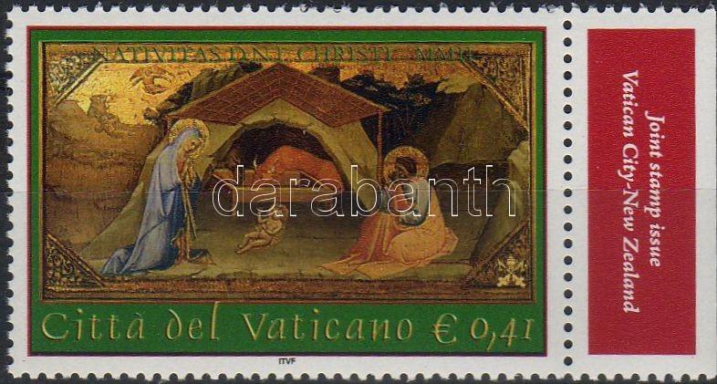 Christmas corner stamp, Karácsony ívsarki bélyeg, Weihnachten Marke mit Rand