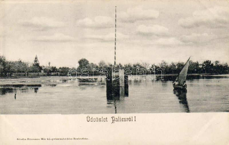 Palic, boat, Palics, csónak, kiadja Heumann Mór