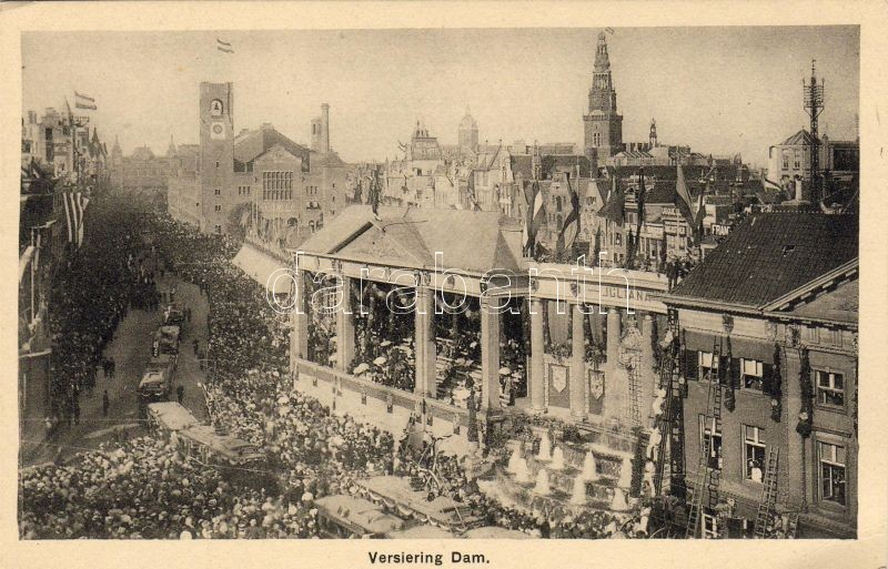 Amsterdam, Dam Square, festival, celebration, trams