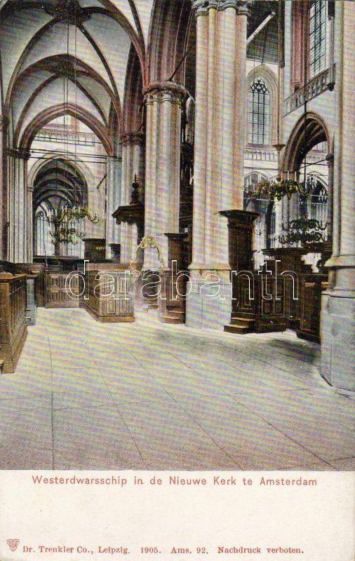 Amsterdam, Nieuwe Kerk, Westerdwarsschip / church, transept, interior