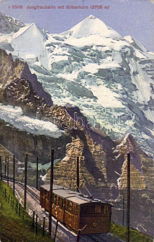 Jungfraubahn, Silberhorn / railway, train, mountain
