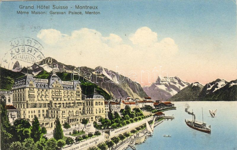 Montreux, Grand Hotel Suisse, steamship
