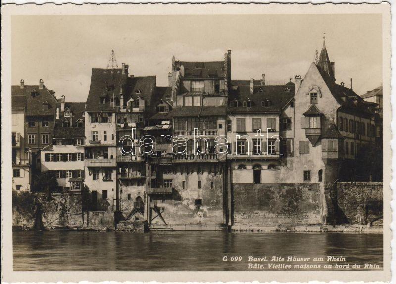 Basel, Alte Häuser am Rhein