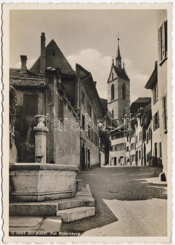 Basel, Altstadt, Am Petersberg, fountain