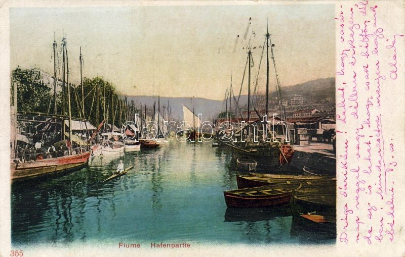 Fiume, Hafen / port, ships