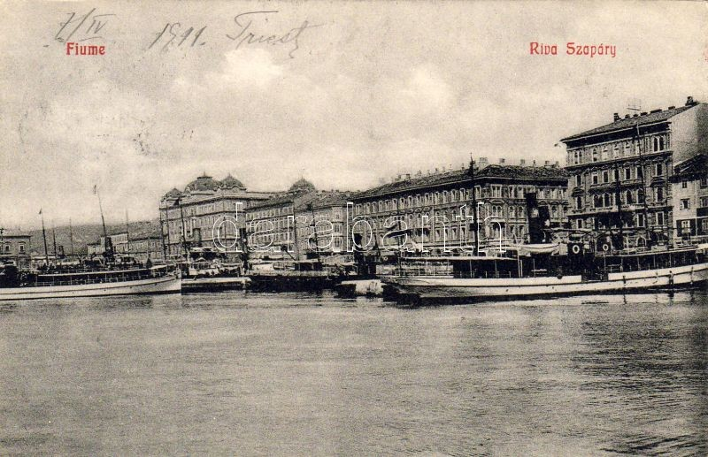 Fiume, Riva Szapáry, steamships