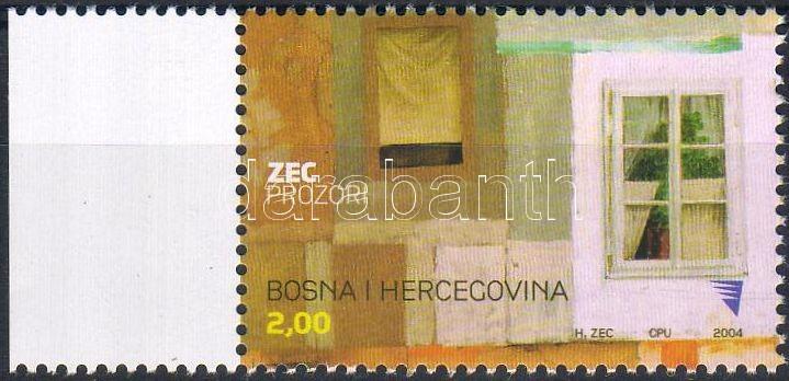 Painting (Safet Zec, 1943) stamp, Festmény (Safet Zec, 1943) bélyeg, Gemälde (Safet Zec, 1943) Marke