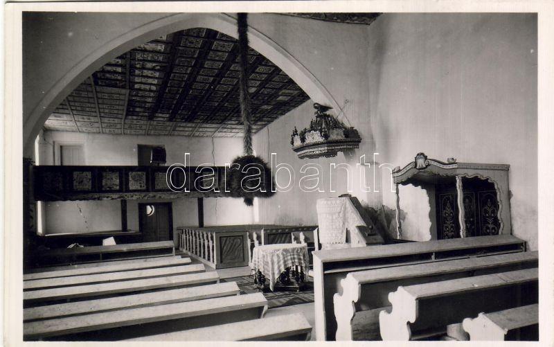 Bikal, Református templom, belső (Kalotaszeg)