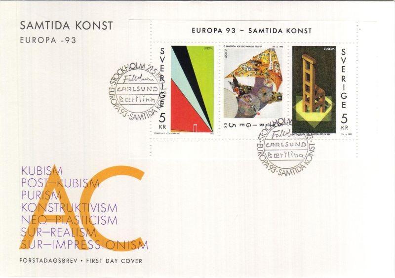 Contemporary Arts set, booklet pane on FDC, Kortárs művészet sor, füzetlap FDC-n, Zeitgenössiche Kunst FDC