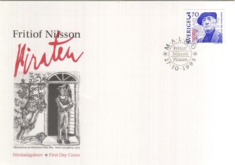 100 Geburtstag von Fritiof Nilsson FDC, 100 éve született Fritiof Nilsson FDC-n, Centenary of Fritiof Nilsson's birth on FDC