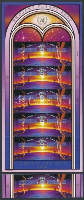 International year of the space margin pair + mini sheet, A világűr éve ívszéli pár + kisív, Internationales Weltraumjahr Paar mit Rand + Kleinbogen