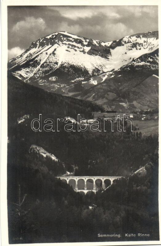 Semmeringbahn, Kalte-Rinne-Viadukt / railway bridge
