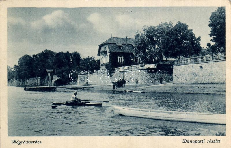 Nógrádverőce, csónak, part