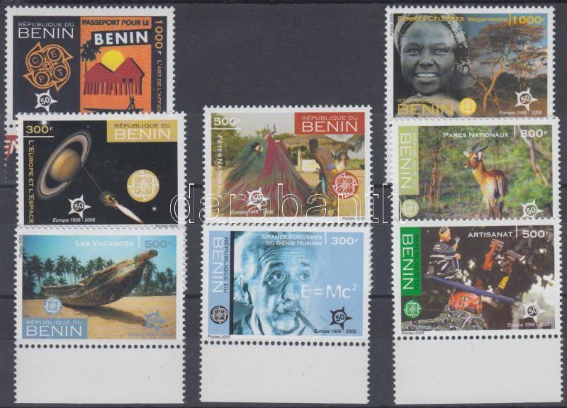 50 Jahre Europamarken Satz mit Rand, 50 éves az EUROPA bélyeg ívszéli sor, 50th anniversary of first EUROPA stamps margin set