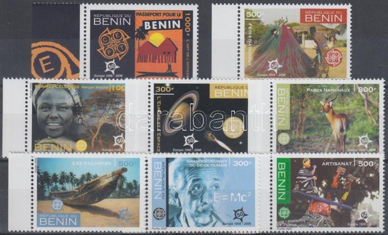 50th anniversary of first EUROPA stamps margin set, 50 éves az EUROPA bélyeg ívszéli sor, 50 Jahre Europamarken Satz mit Rand