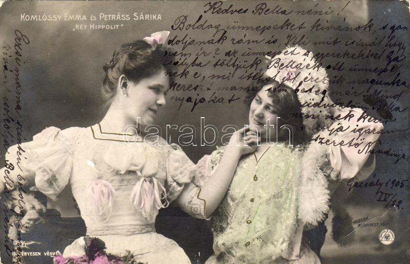 Komlóssy Emma és Petráss Sára