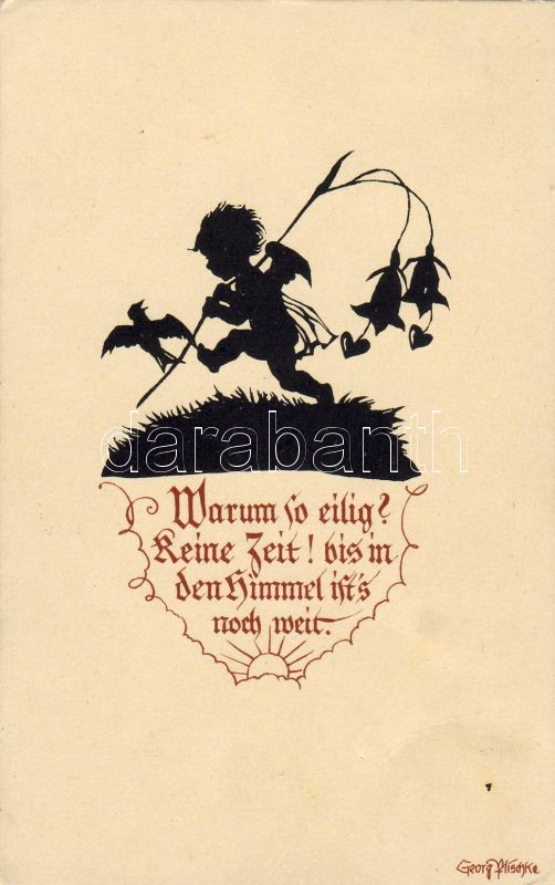 Gyerek sziluett s: Georg Pfischke, Child silhouette s: Georg Pfischke