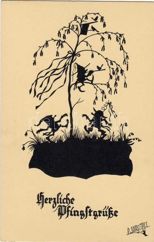 Dwarves silhouette s: P. Schrempel, Törpék sziluett s: P. Schrempel