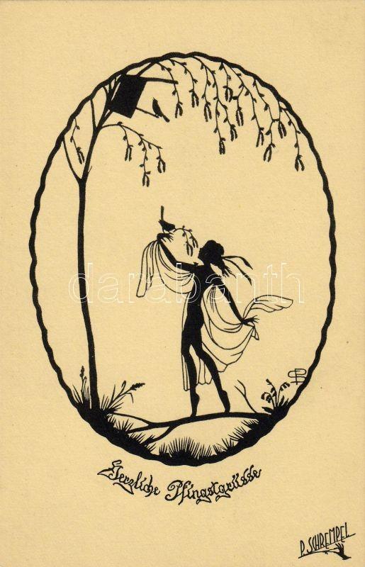 Fairy silhouette s: P. Schrempel, Tündér sziluett s: P. Schrempel