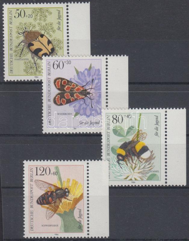 Insect pollinators margin set, Beporzó rovarok ívszéli sor, Bestäuberinsekten Satz mit Rand