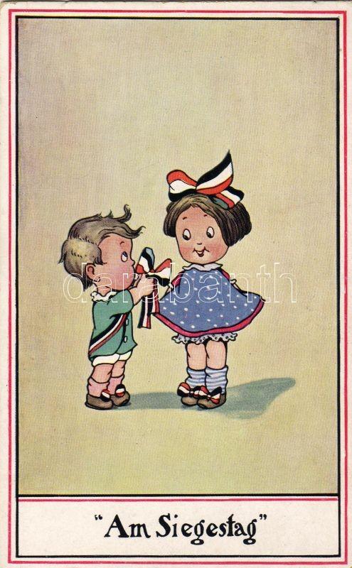 Győzelem napja, gyerekek, német propaganda, Am Siegestag / Victory day, children, German propaganda
