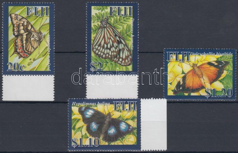 Butterflies margin set (regular stamp in that), Lepkék ívszéli sor (közte normál bélyeg), Schmetterlinge Satz mit Rand (eine Marke mit keinem Rand darin)
