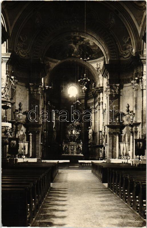 Radna, church interior, Máriaradna, kegytemplom belső