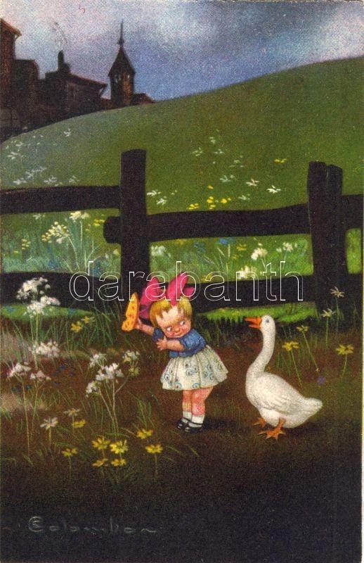 Girl and goose s: Colombo, Lány libával s: Colombo